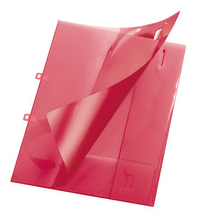 Angebotsmappe Crystal, A4, für ca. 30 Blatt, rot