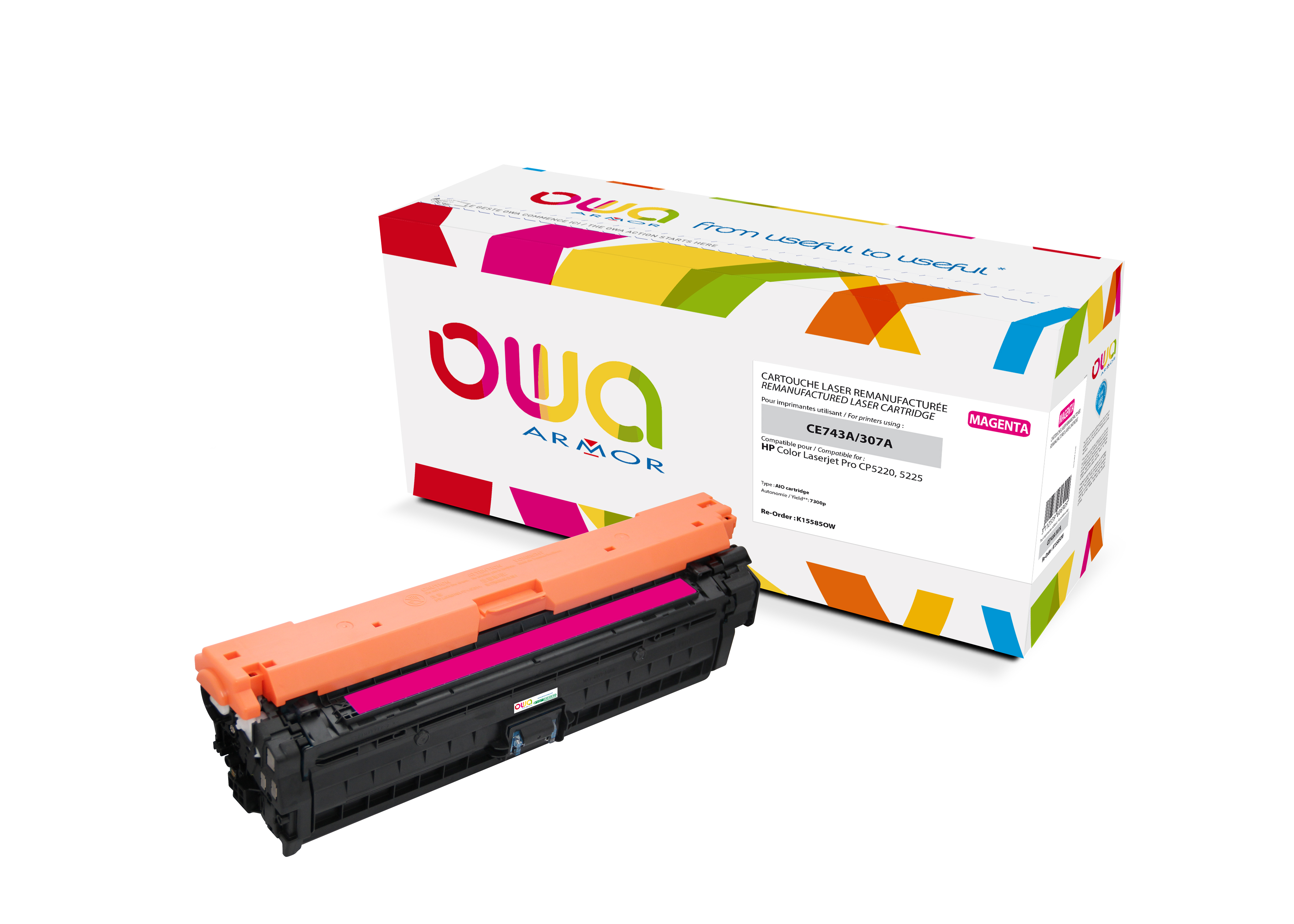 Armor OWA Toner wie HP CE743A @K15585OW-PACK5